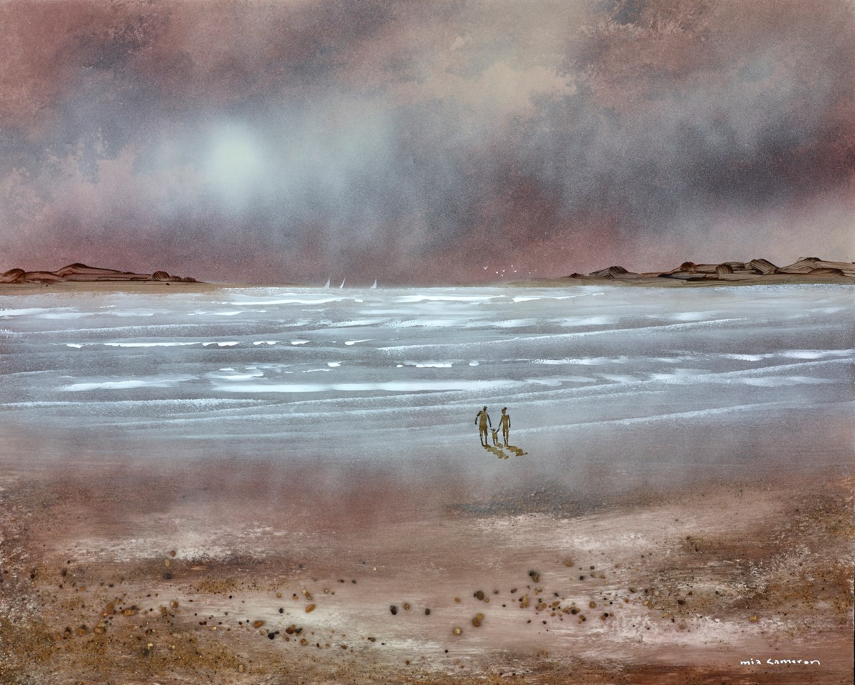 Moonlight Walk by the shore I by mia cameron -  sized 20x16 inches. Available from Whitewall Galleries